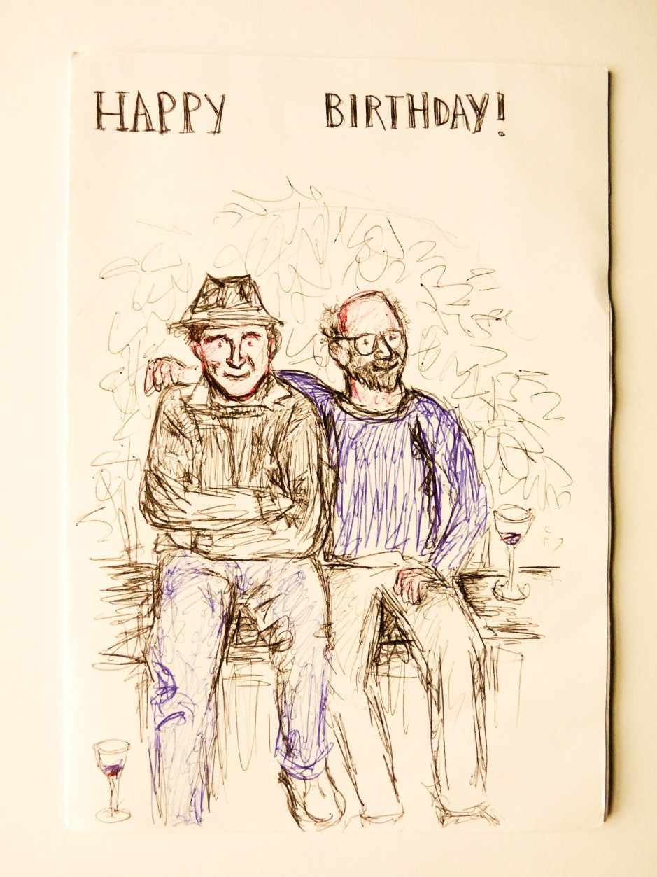 Eric Newby birthday card