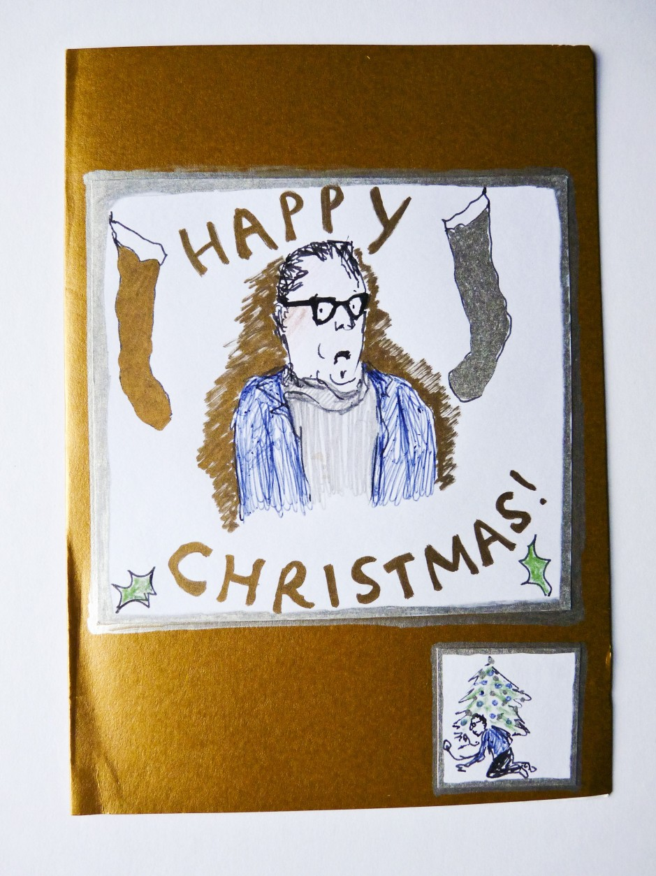 John Shuttleworth Christmas card