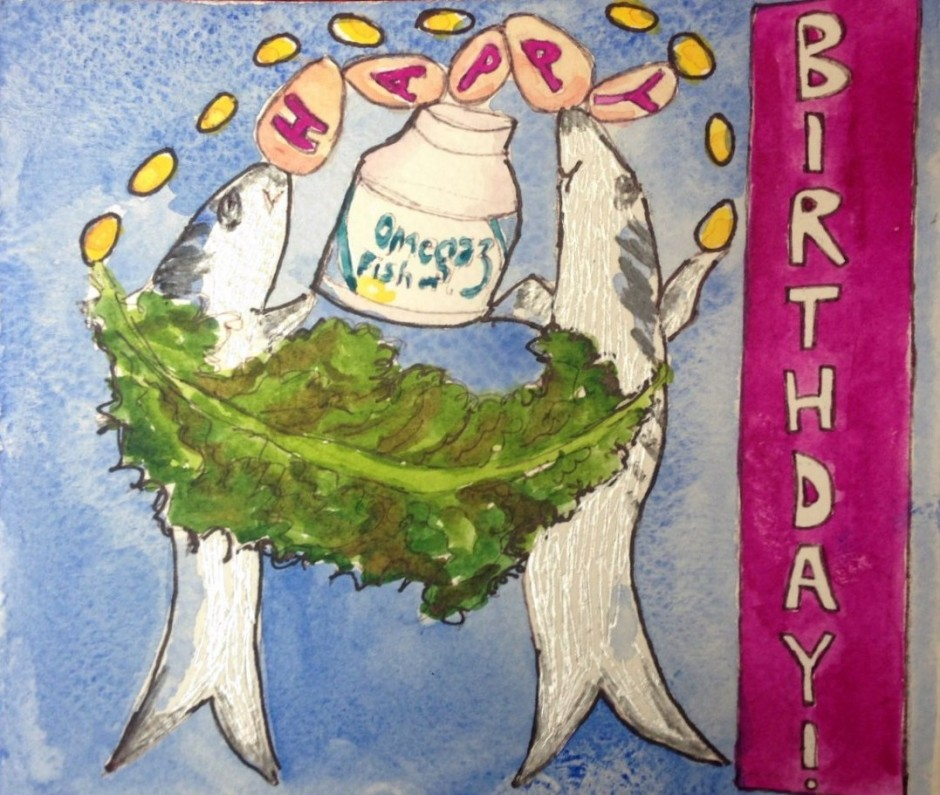 Omega 3 birthday card