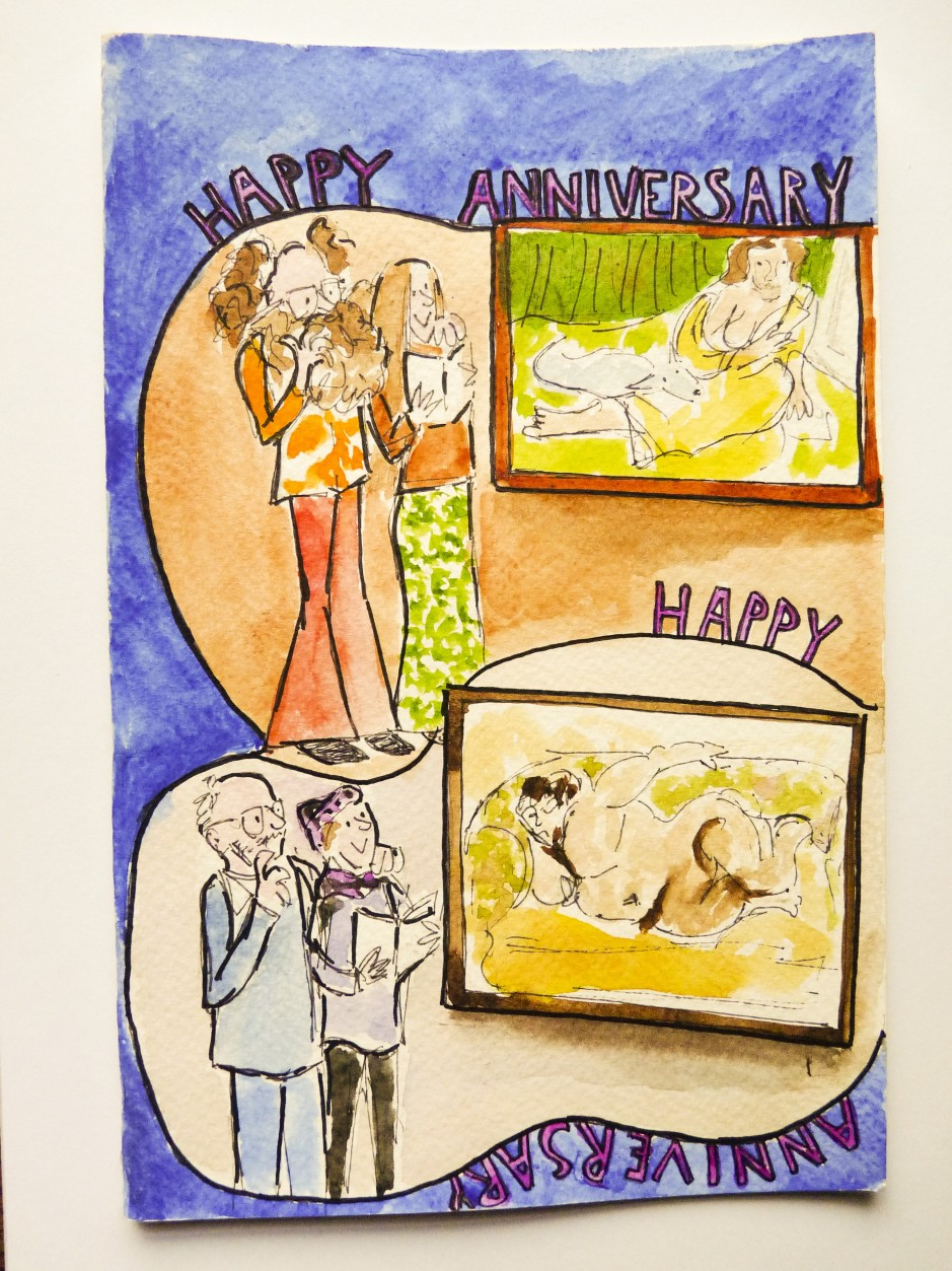 Wedding Anniversary art gallery card