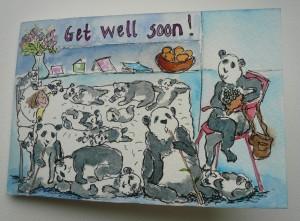 Get well soon pandas