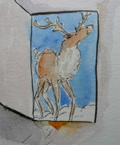 Advent day 1 reindeer