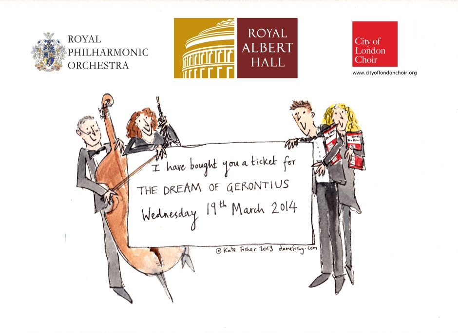 City of London Choir Dream of Gerontius token Royal Albert Hall 19 March