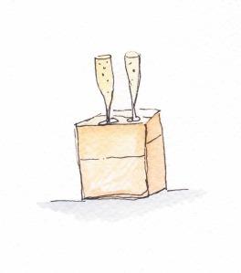 Housewarming champagne