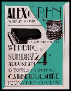 Alex&Ben Wedding Invitation Dame Fishy